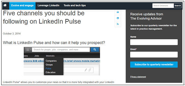 linkedin pulse channels