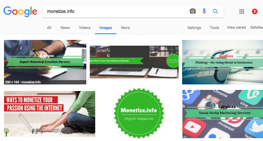 monetize.info results on Google Images