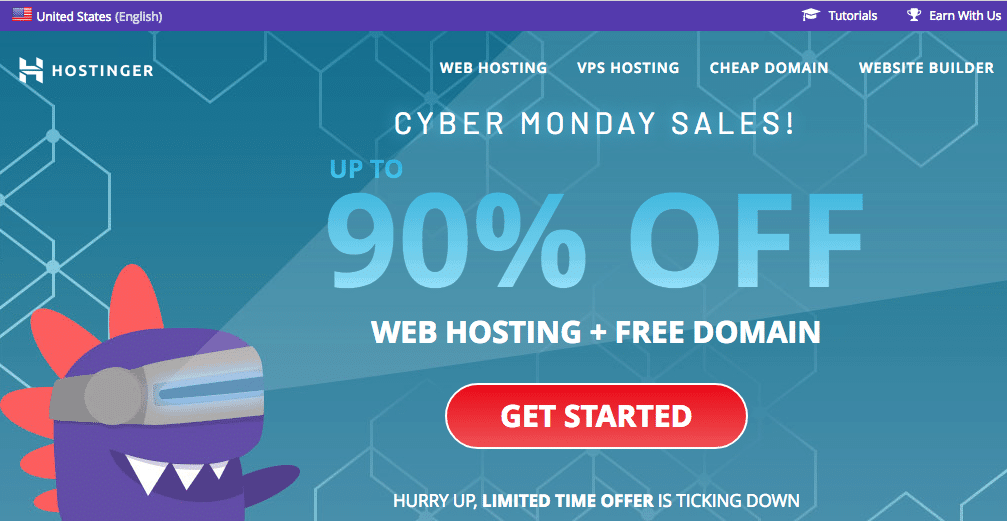 Hostinger – 90% discount