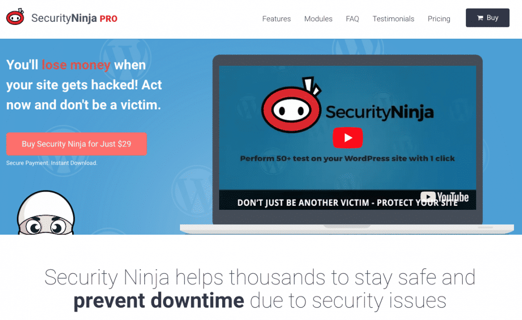 Security Ninja Pro – 30% Discount on All Plugin Packages