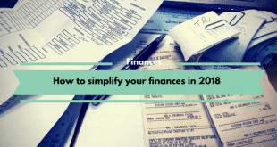 How to simplify your finances in 2018