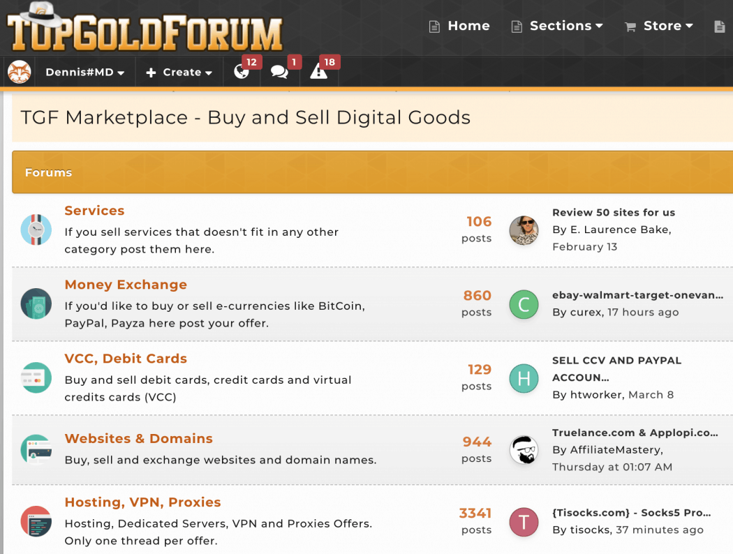 TopGoldForum Marketplace