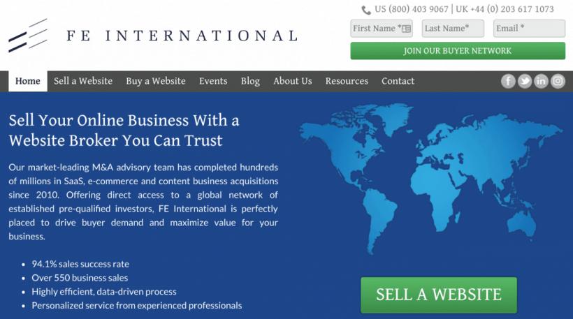 FEInternational Website Broker