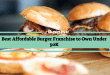 Best Affordable Burger Franchise to Own Under 50K