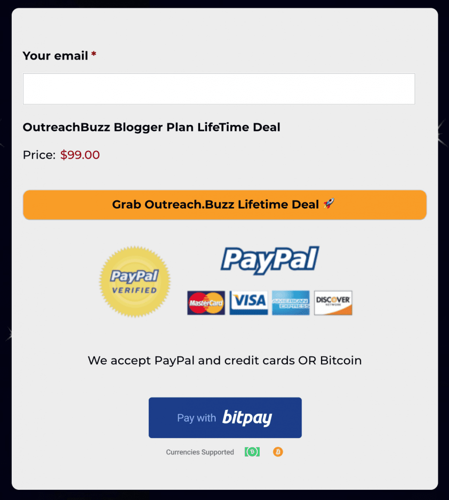 outreachBuzz cryptopayments