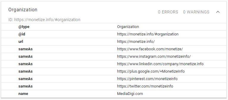 Schema Strucutured Data Organization