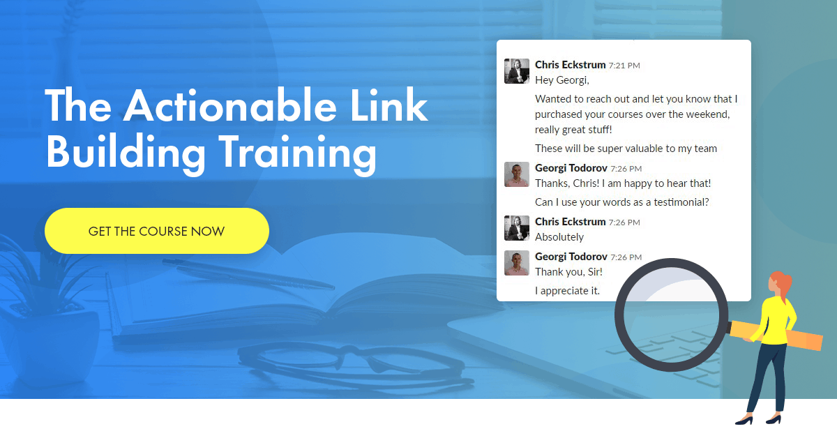 Actionable Link Building Training – 20% Exclusive Discount Code