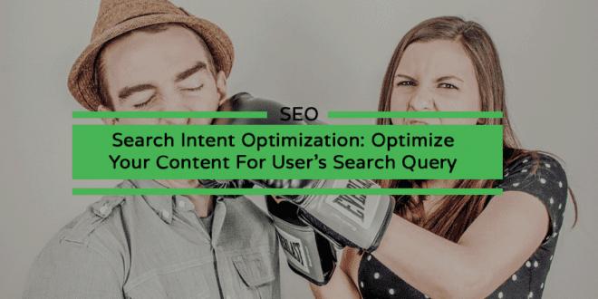 Search Intent Optimization