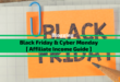BlackFriday & CyberMonday 2020 Affiliate Marketing Guide