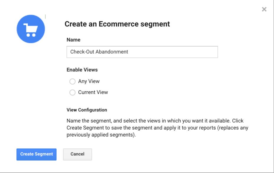 Google Analytics - Create a segment