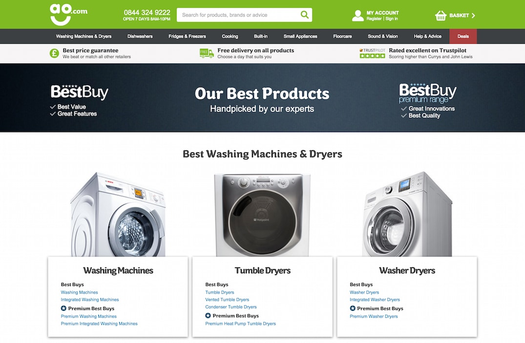 Shopping guide for the best products on ao.com