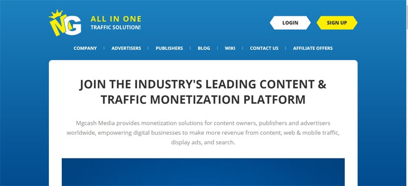Monetization Platform - MGcash