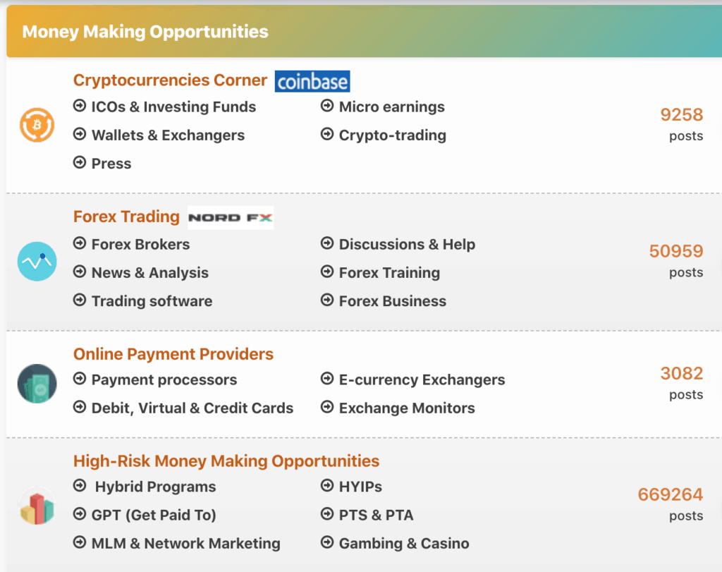 Money Making Opportunities on Top Gold Forum