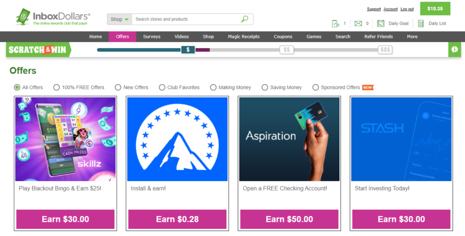 Complete Offers on InboxDollars to earn money