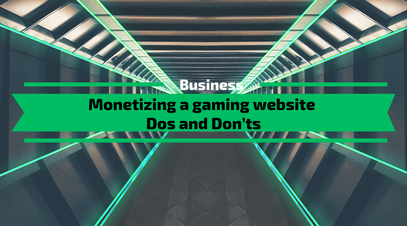Monetizing a gaming website