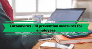 Coronavirus - 10 Prevention Measures for Employees
