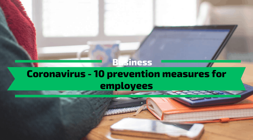 Coronavirus - 10 Prevention Measures for Employees