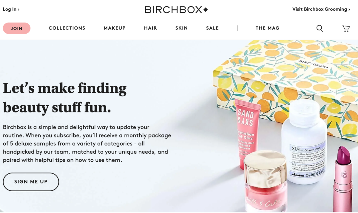 BirchBox Subscription eCommerce