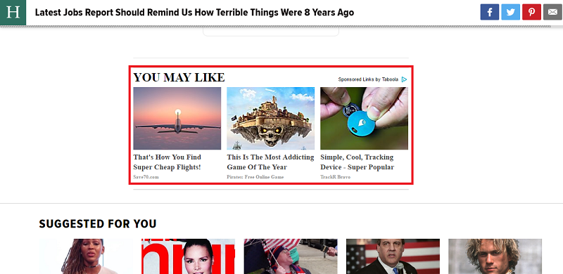 Native ads on TheHuffingtonPost