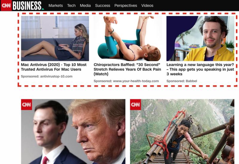Native ads on CNN.com