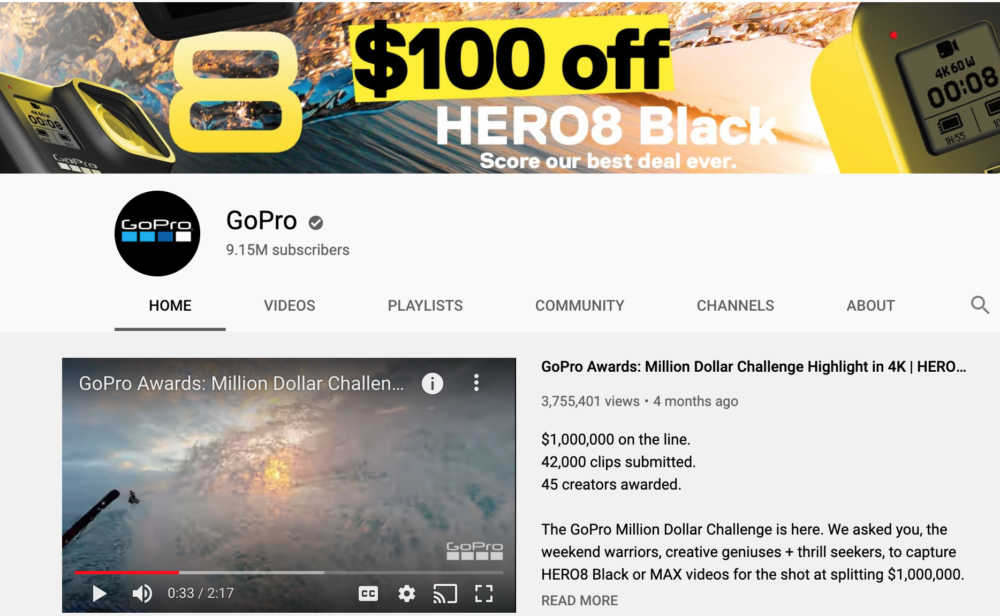 GoPro Youtube Account
