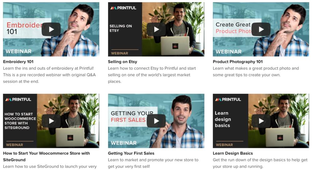 Printful webinars