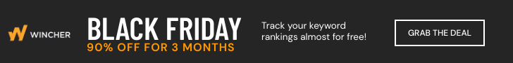 Activate the Wincher Rank Tracker BlackFriday deal