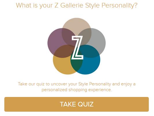 Z Gallerie's style Quiz