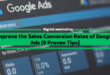 Improve the Sales Conversion Rates of Google Ads [9 Proven Tips]