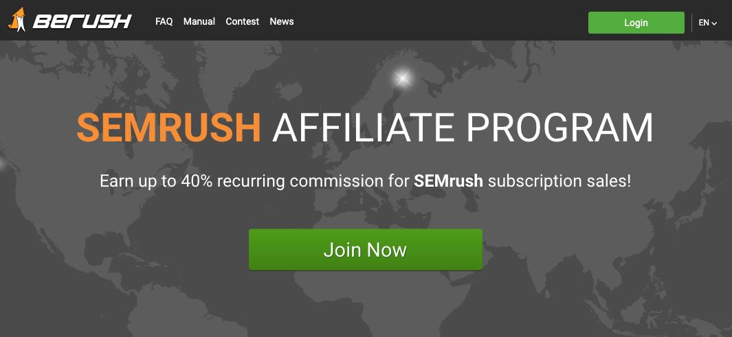 SEMrush Affiliate Program - BErush