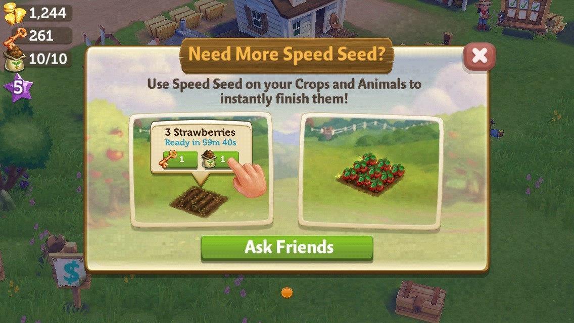 Farmville 2 - Wait or spend money