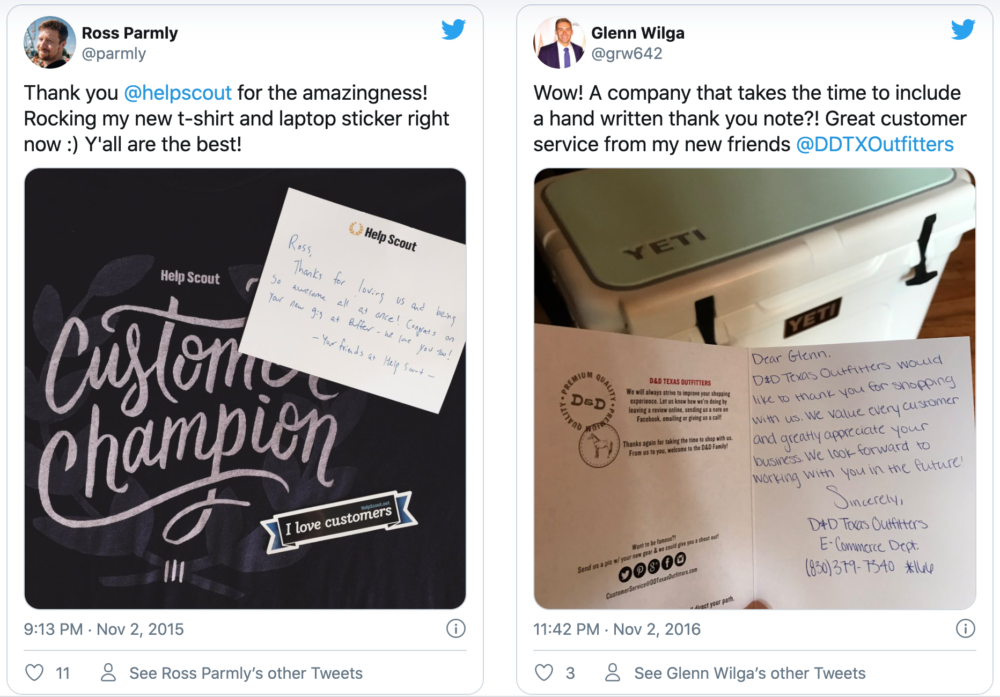 Send handwritten notes to your customers