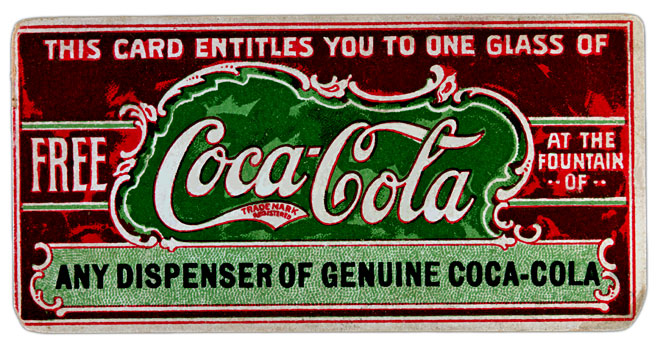 Coca-Cola First coupon introduced in 1887