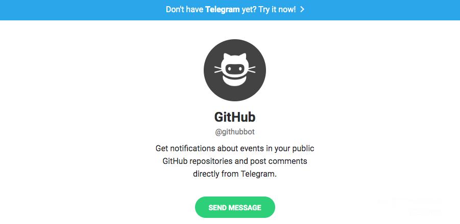 Telegram bots: Githubbot