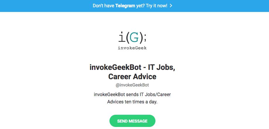 Telegram bots: Invokegeekbot