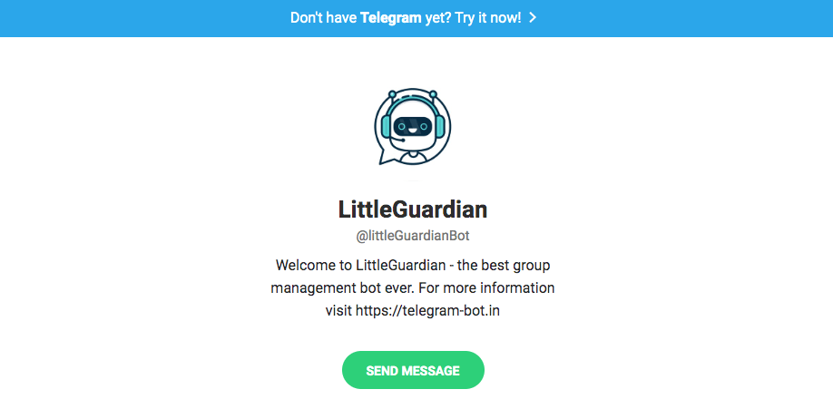 Telegram bots: Little guardian