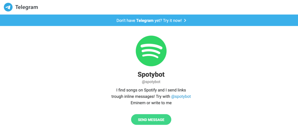 Telegram bots: Spotify