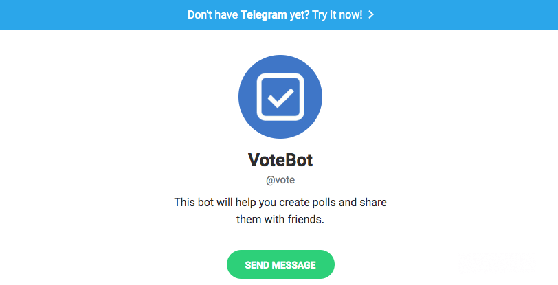 Telegram bots: Votebot