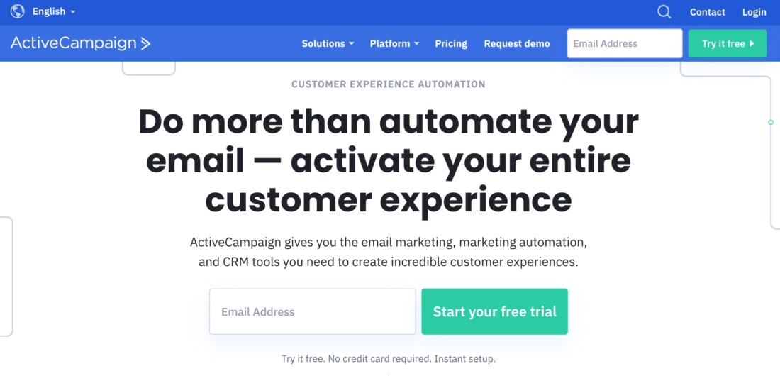 ActiveCampaign eMail Marketing Automation Platform