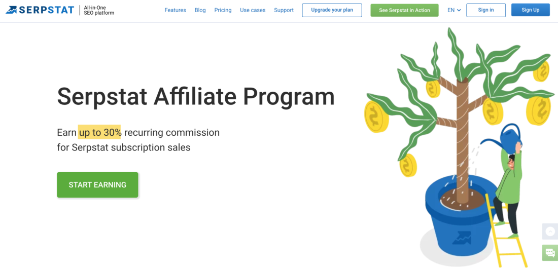 Join the Serpstat Affiliate Program with Recurring Payments