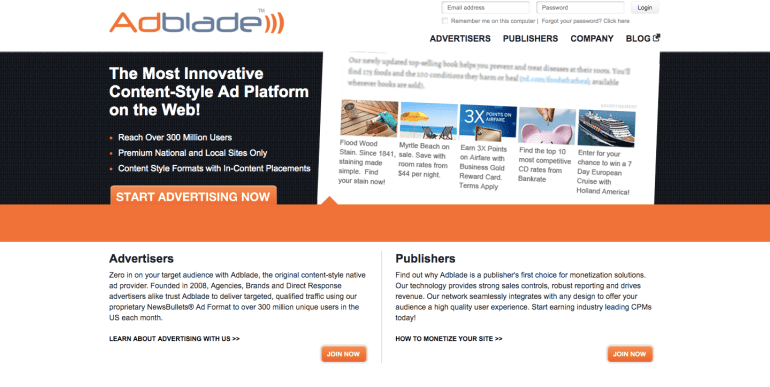 Adblade Advertising Network