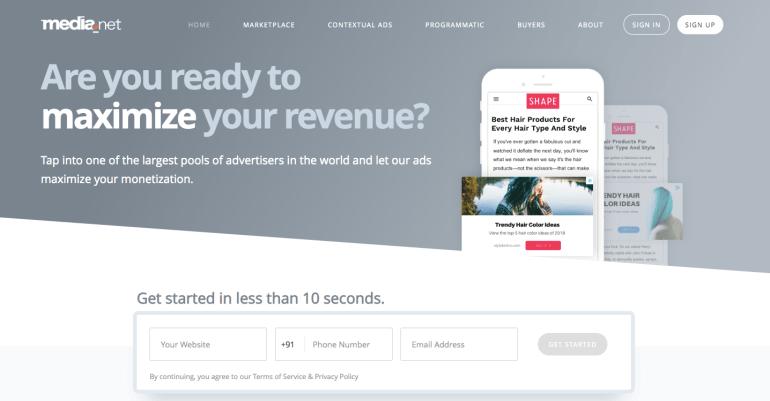 media.net - Best Advertising Network for Publishers