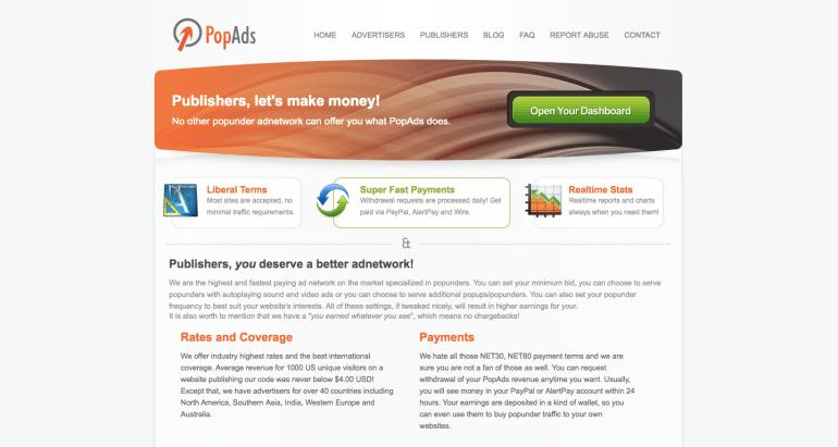 PopAds Advertising Network