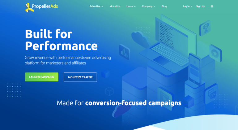 PropellerAds - Advertising network