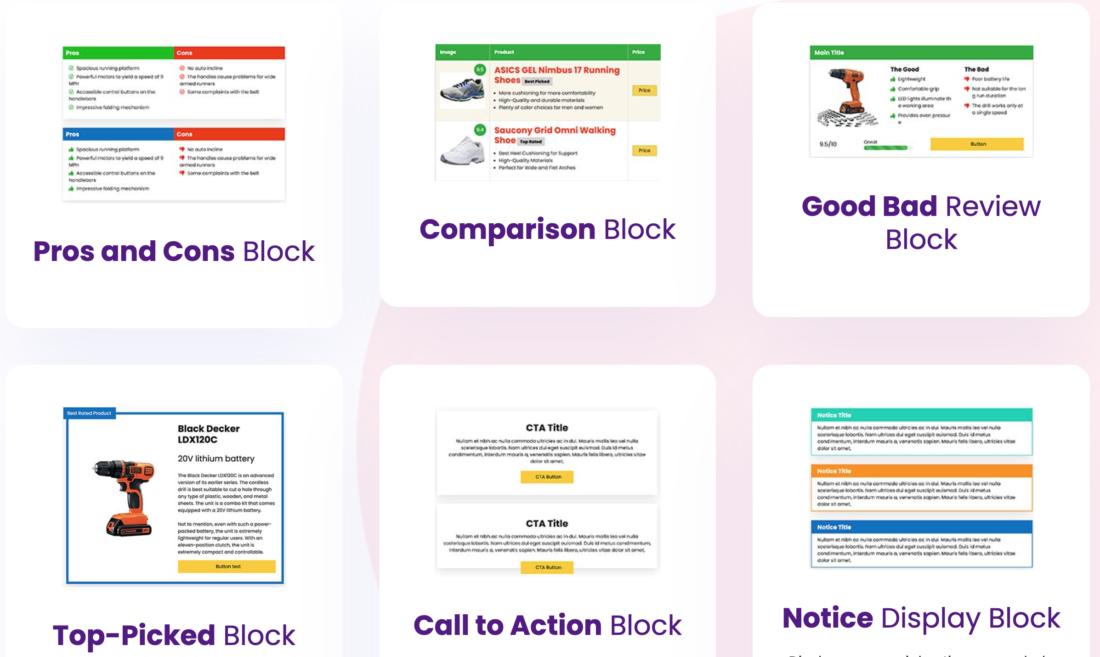 AffiliateBooster Content Blocks