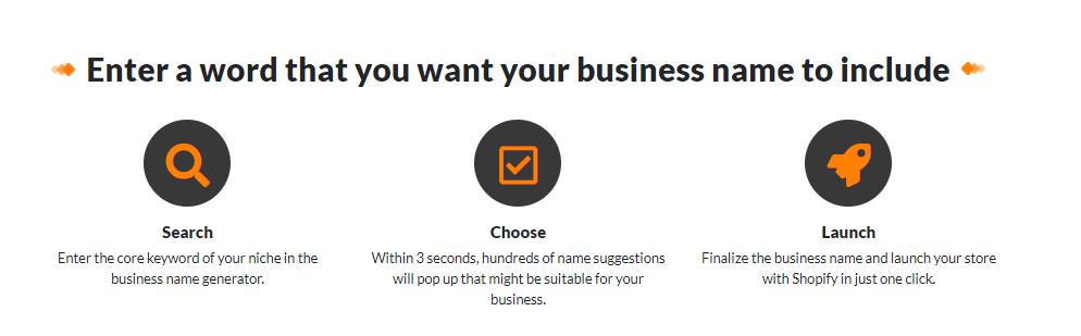 business name generator information