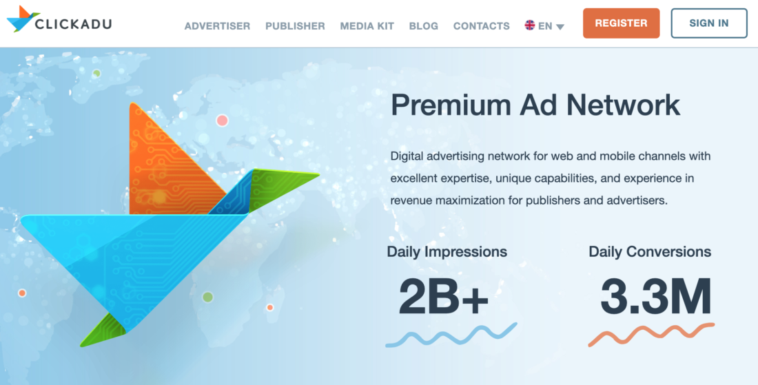 Signup to ClickAdu Advertising Network