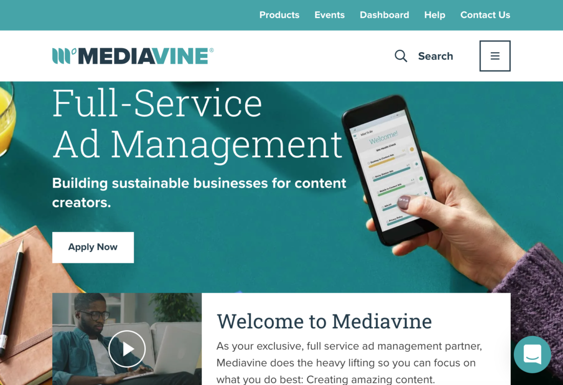 MediaVine - Best Advertising network for publishers