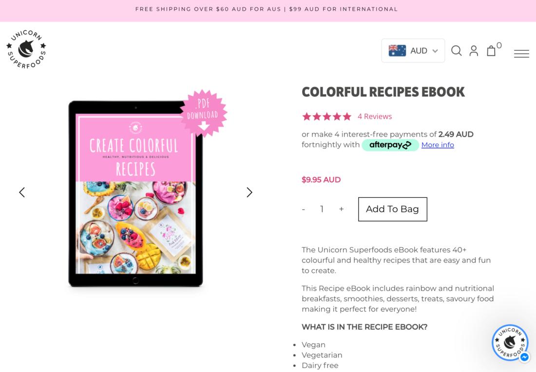 Bloggers selling recipes ebook