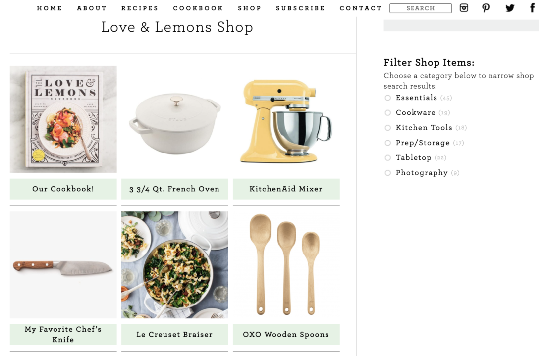 LoveAndLemons Amazon Shop